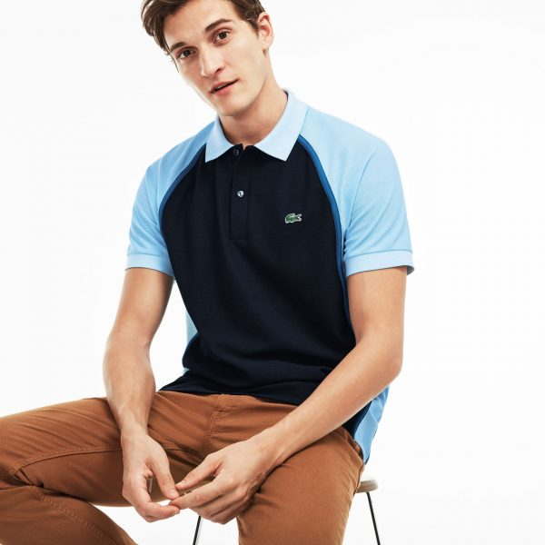 Lacoste Hommes Made in France Regular Fit Piqué Polo – Bleu marine/Rill-Medway