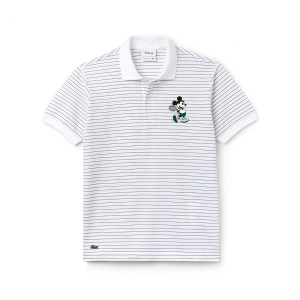 Lacoste Disney Mickey Embroidery Petit Piqué Polo – Homme L.12.12 – WHITE/GREEN